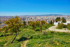 Scenic view to Tangier from Charf hill Royalty Free Stock Photo