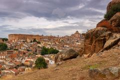 Toledo. Aerial view of the city. Royalty Free Stock Photo
