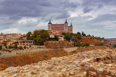 Toledo. Aerial view of the city. Royalty Free Stock Photos