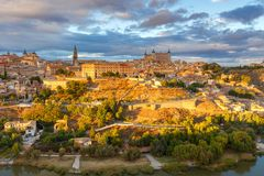 Toledo. Aerial view of the city. Royalty Free Stock Image