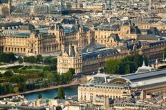 Scenic view from the top of the Eiffel Tower. Paris, France. Stock Photography