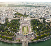 Scenic view from the top of the Eiffel Tower. Paris, France. Royalty Free Stock Image
