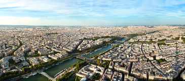 Scenic view from the top of the Eiffel Tower. Paris, France. Royalty Free Stock Photo