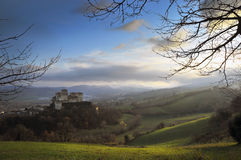 Scenic view of Torrechiara Castle Stock Photo