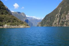 View of Milford Sound, South Island, New Zealand stock photos