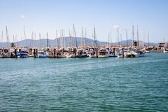 Scenic view of Townsville Mariner, Queensland Australia. Early morning. Seascape, landscape royalty free stock photo
