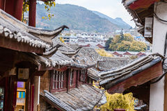 Scenic view of traditional Chinese tile roofs Royalty Free Stock Photos