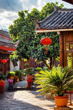 Scenic view of traditional Chinese wooden houses, Lijiang, China Stock Image
