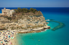 Scenic view in Tropea Stock Photos