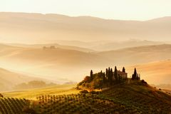 Scenic view of typical Tuscan landscape Royalty Free Stock Photos