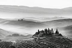 Scenic view of typical Tuscan landscape Stock Photo