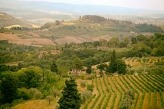 Typical Tuscany landscape, Italy stock photography