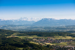 Scenic view from uetliberg Royalty Free Stock Images