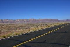 Highway in Arizona desert royalty free stock photos