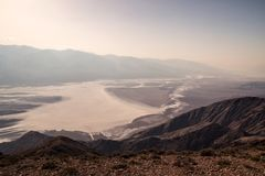 Scenic view from the viewpoint of Dante`s View, Dramatic landscape of southern Death Valley basin, California USA royalty free stock photography