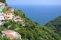 Scenic view of village albori on amalfi coast, italy Stock Image