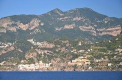 Scenic view of village atrani on amalfi coast, italy Royalty Free Stock Photo