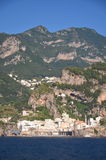 Scenic view of village atrani on amalfi coast, italy Royalty Free Stock Photo