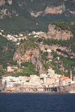 Scenic view of village atrani on amalfi coast, italy Stock Photos