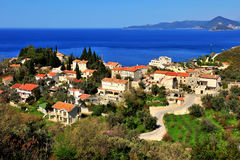 Scenic view of an village near Budva Montenegro Royalty Free Stock Photo