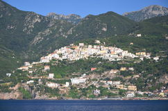 Scenic view of village raito on amalfi coast, italy Stock Photos