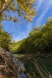 Scenic Voidomatis river in Zagoria, Epirus, Greece Stock Images