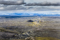 Scenic view of volcanic landscape in Iceland. Lakagigar area Stock Photo