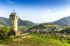 Scenic View into the Wachau with the river Danube. Spitz. Austria stock photos