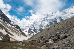 Scenic view at the walley. In Caucasus mountains Stock Photos