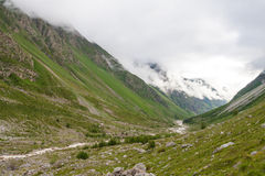 Scenic view at the walley. In Caucasus mountains Royalty Free Stock Image
