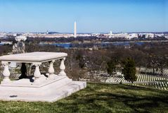 Scenic View of Washington DC from Arlington Cemetery Virginia Stock Photography