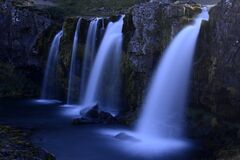 Scenic View of Waterfall Stock Images