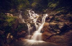 Scenic View of Waterfall Stock Photography