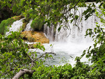 Scenic view of waterfall in Kornati park, Dalmatia Royalty Free Stock Images