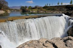 Scenic view of waterfall. Montenegro Royalty Free Stock Images
