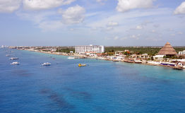 Scenic view of waterfront Cozumel, Mexico Stock Photography