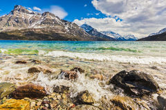 Scenic View of Waterton Lake National Park, Alberta Canada Stock Photo