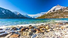 Scenic View of Waterton Lake National Park, Alberta Canada Royalty Free Stock Images