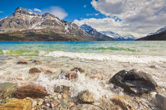 Scenic view of Waterton Lakes National Park Stock Image