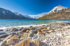 Scenic view of Waterton Lakes National Park Stock Photo