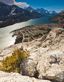 Scenic view of Waterton Lakes National Park Royalty Free Stock Image