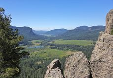 A Scenic View from the West Fork Valley Overlook in Colorado. A Scenic View from the West Fork of the San Juan River Valley Overlook in Colorado Between Wolf royalty free stock photography