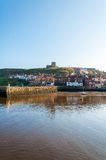 Scenic view of Whitby city and abbey in sunny autumn day Royalty Free Stock Photography