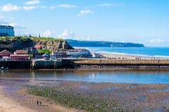 Scenic view of Whitby city in autumn sunny day Royalty Free Stock Images