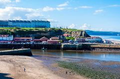Scenic view of Whitby city in autumn sunny day Royalty Free Stock Image