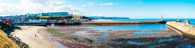 Scenic view of Whitby city in autumn sunny day Stock Photography