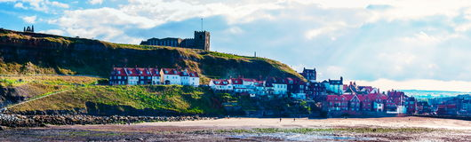 Scenic view of Whitby city in autumn sunny day Stock Photos