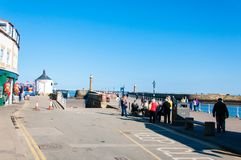 Scenic view of Whitby city in sunny autumn day,UK Royalty Free Stock Photos