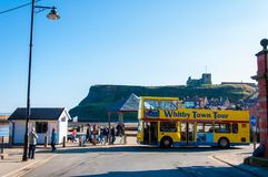 Scenic view of Whitby city in sunny autumn day,UK Stock Photography