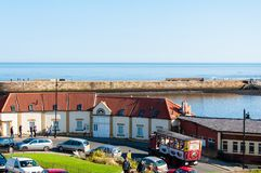 Scenic view of Whitby city in sunny autumn day,UK Royalty Free Stock Photography